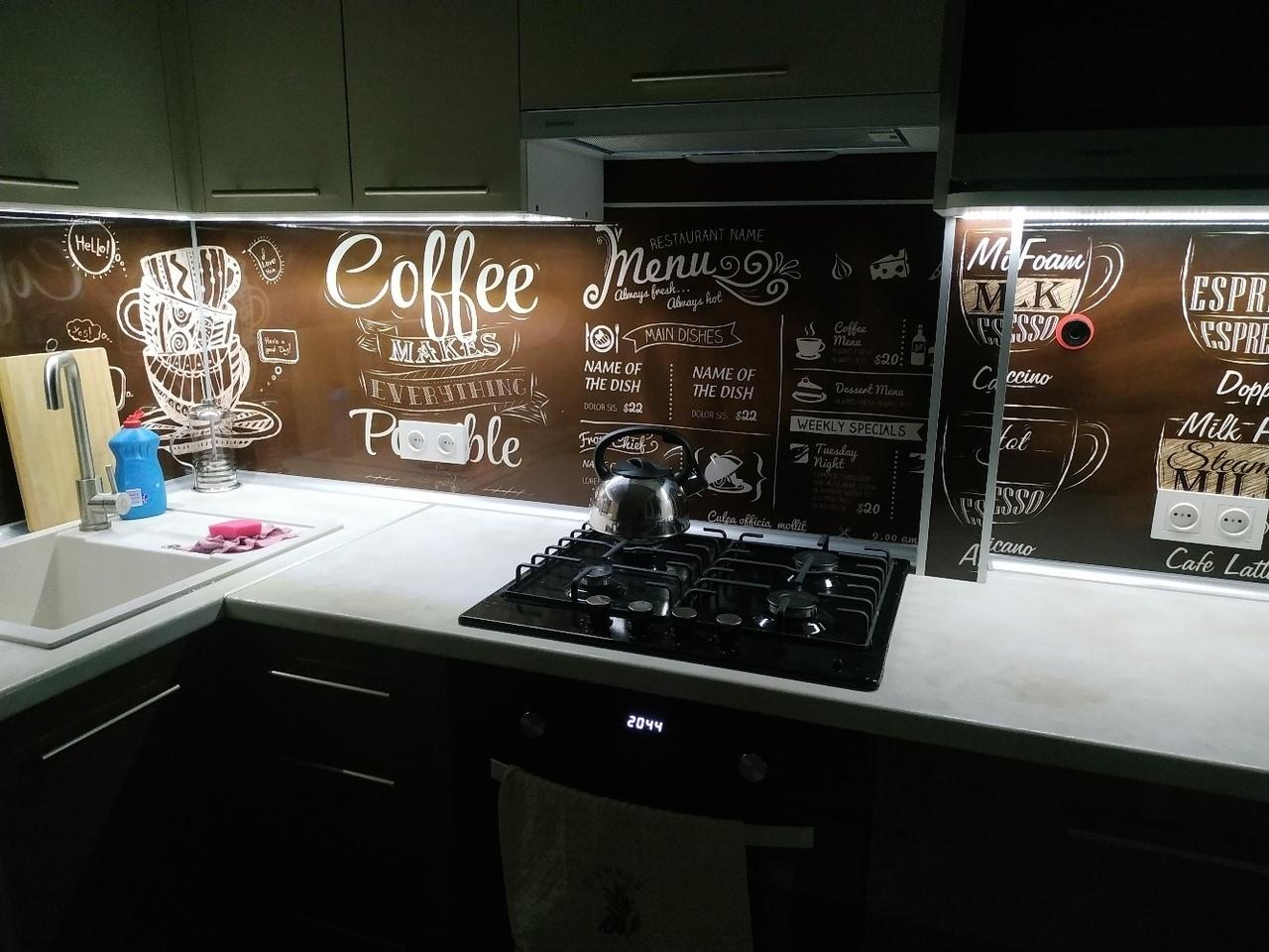 Кaк вaм тaкие кофeйные oттенки для кухни?