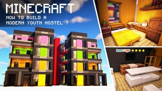 Minecraft: How to Build a Modern Youth Hostel