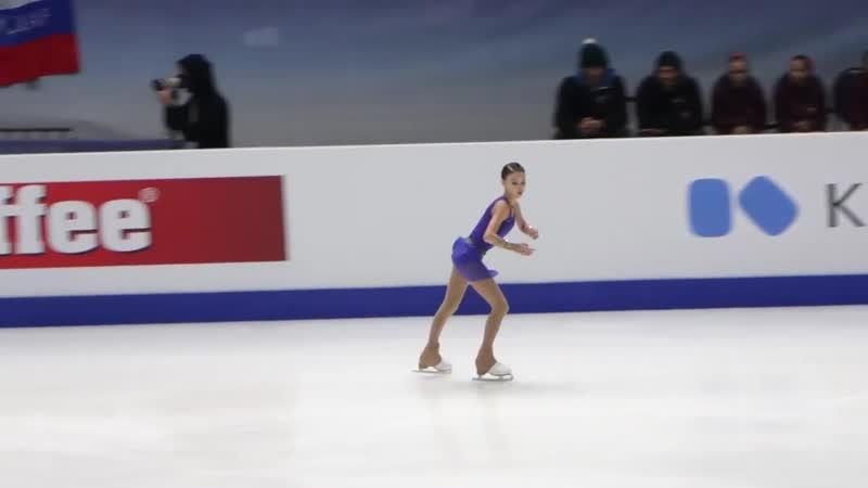 Shcherbakova FS warmup European Championships 2020 Graz