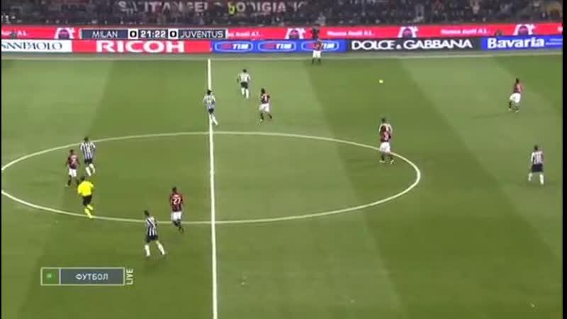 Чемпионат Италии 2010 11 9 й тур Милан Ювентус 1 тайм