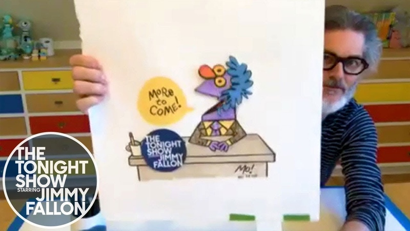Mo Willems Gives Jimmy a Squillem Doodle Lesson