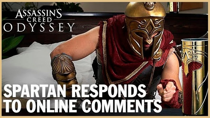 Assassins Creed Odyssey Spartan Responds to Online Comments | Ubisoft [NA]