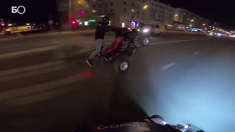 В Казани наказали водителей гонявших по городу на квадроциклах