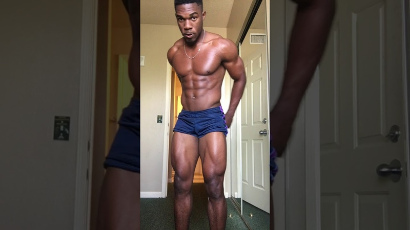 CollegeGuys99 Kyky Fit Bodybuilder from Haiti Flexing Muscles Instagram Fitness