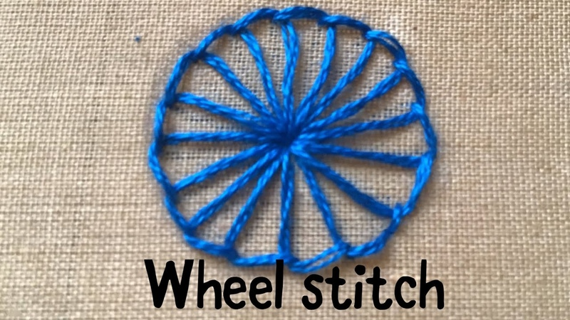 Wheel stitch Buttonhole wheel stitch Hand Embroidery for beginners Basic embroidery stitches