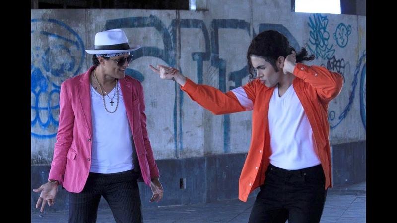 Bruno Mars Dancing with Michael Jackson Impersonators
