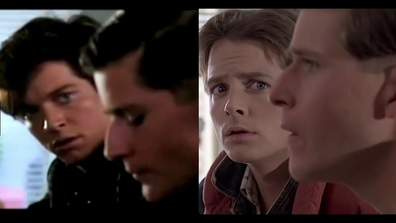 Eric Stoltz vs Michael J Fox Back to the Future Comparison