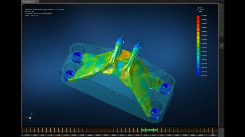 Топологическая оптимизация кронштейна Аддитивные технологии для металлов Часть 1