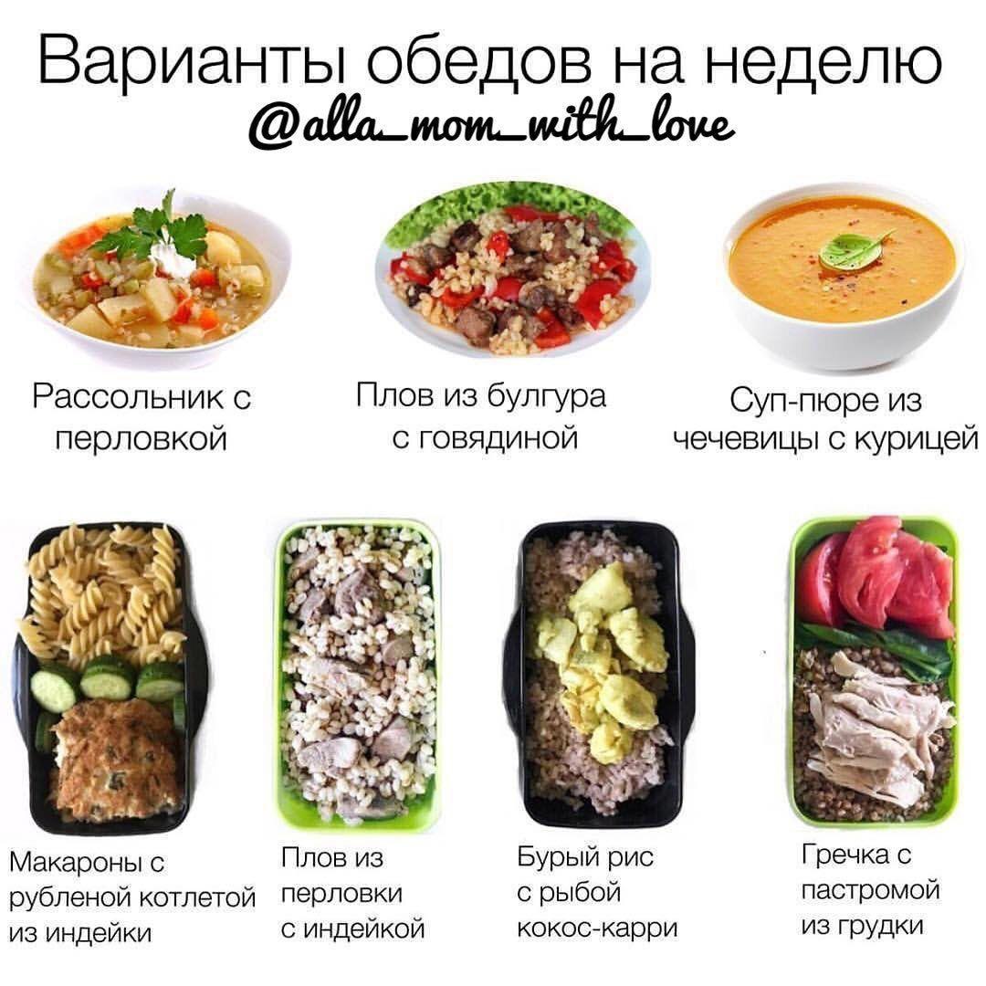 Подборка обедов на неделю