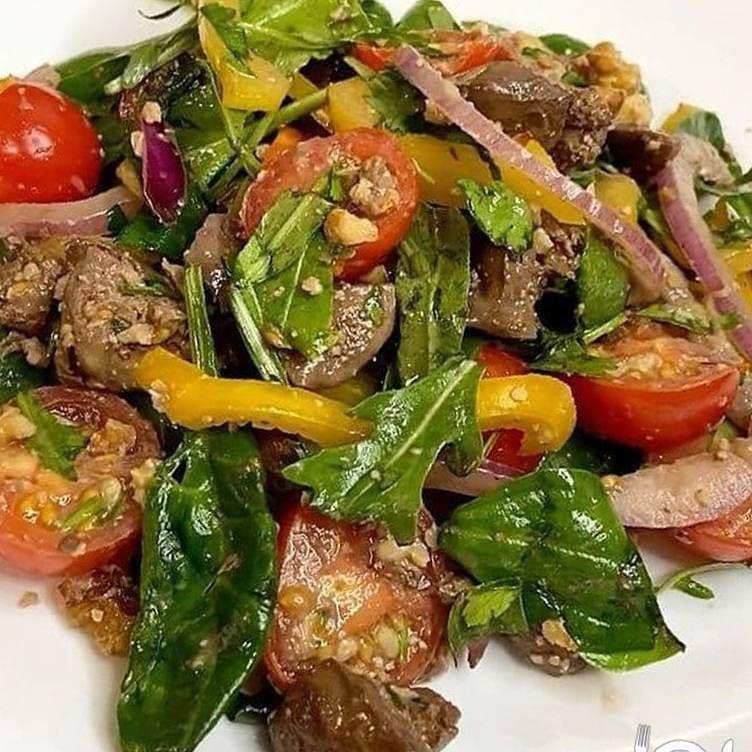 БОМБИЧЕСКИЙ тёплый салат с печенью
