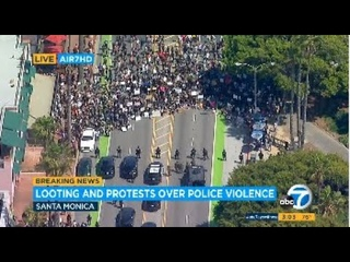 Santa Monica, Long Beach protests over George Floyd's death lead to looting, stores damaged | ABC7