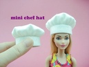 DIY Miniature Doll Mini Chef Hat - Very Easy!