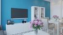 Проект трехкомнатной квартиры в жк Мельникова