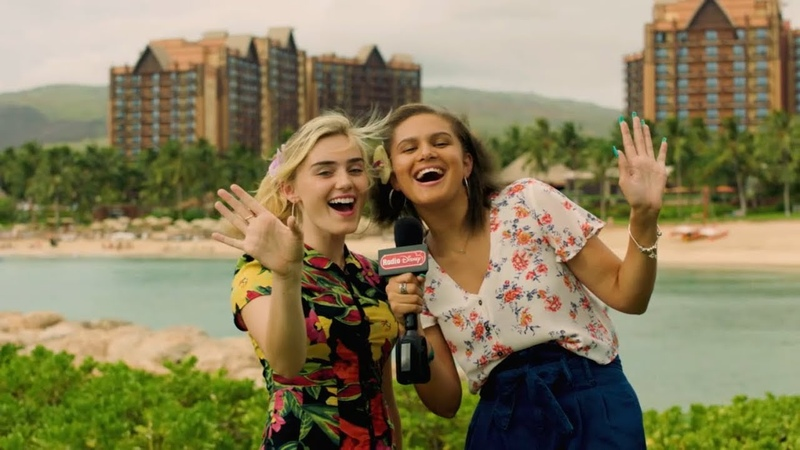 Meg Donnelly and Lela B at Disney Aulani in Hawaii Radio Disney Insider