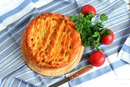 Пирог с фаршем и опятами