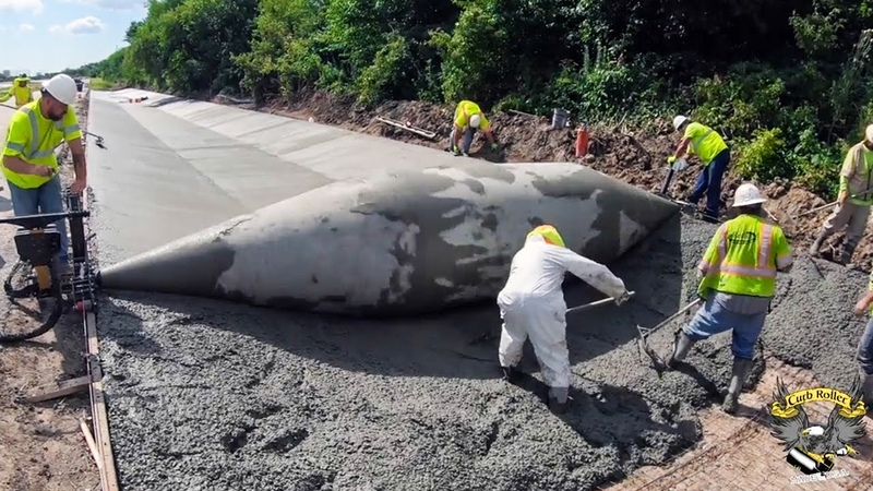 This excellent construction machine is very INCREDIBLE Modern concrete paving machines technology