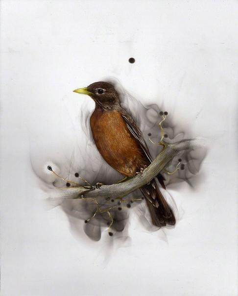 Стивен Спазук использует технику под названием «фумаж». Стивен начинал свою творческую карьеру как многие другие художники. Сперва карандашные наброски, затем акварель, масло и акрил. Вслед за