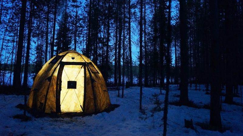 Ночь в палатке Берег УП 2 мини Одиночный поход Таёжная кухня 24 часа в лесу Печь Экономка Мини