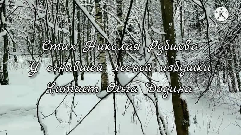 Н.Рубцов - У сгнившей избушки (читает Ольга Додина)