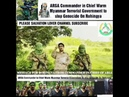 ARSA Commander in Chief Warm Myanmar Terrorist Government to stop Genocide On Rohingya