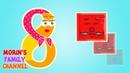 Изучаем цифру 8 ВОСЕМЬ Развивающие мультики для детей 0-5 лет.