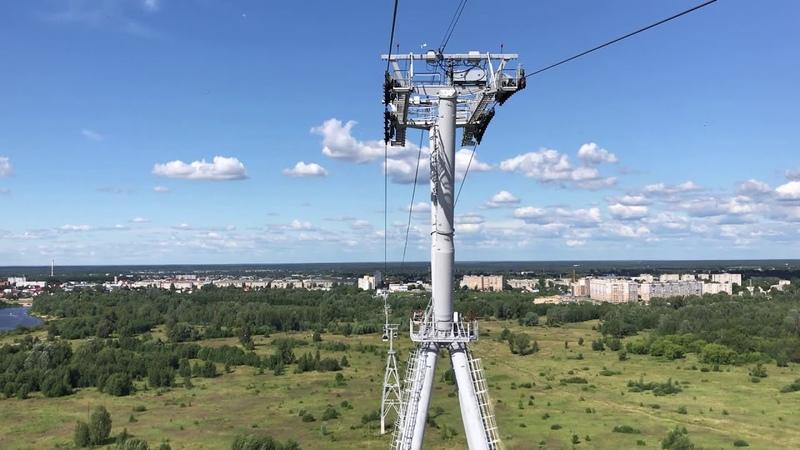 Нижегородская канатная дорога над Волгой Nizhny Novgorod Cableway over Volga river