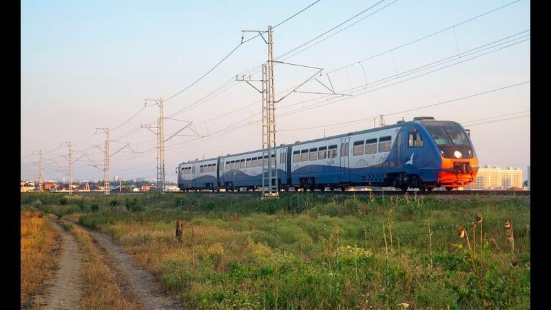 Рельсовый автобус РА2 060 сообщением Анапа Керчь