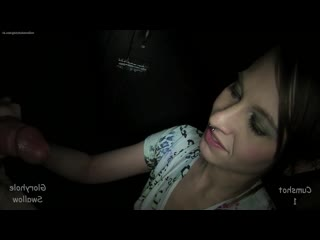 GloryholeSwallow - [blowjob oral sex amateur big dick cock suck секс минет сосет глорихол whore chick соска porn порно]