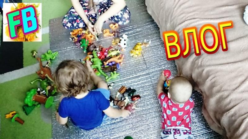 Многодетная семья Влог Необычный завтрак Новые игры с детьми Еда