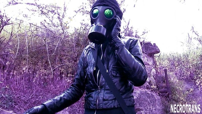 Израильский противогаз с солнцезащитными линзами Israeli gas mask with installed sun lenses