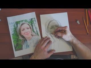 Танделов Борис Дариспанович портрет улыбающейся девушки преподаватель кафедпы рисунка ХГФ ИИИ МПГУ
