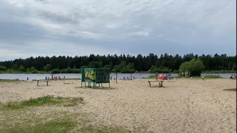 Пляж Исаакиевского озера 2020