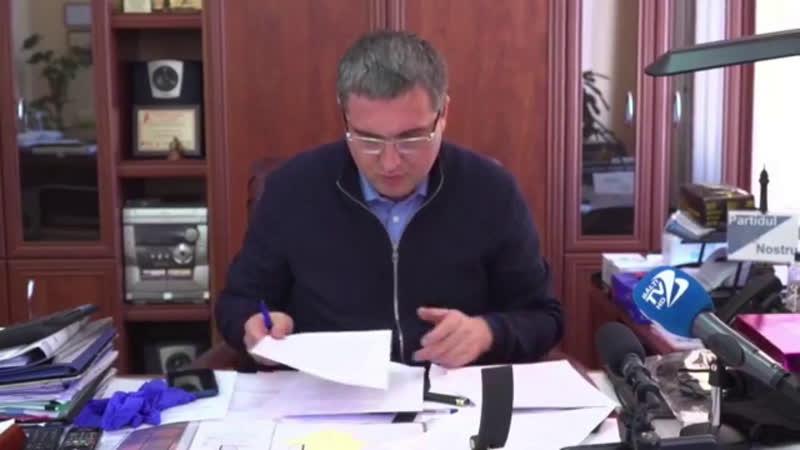 Declarație de presă susținută de Primarul municipiului Bălți Renato Usatîi