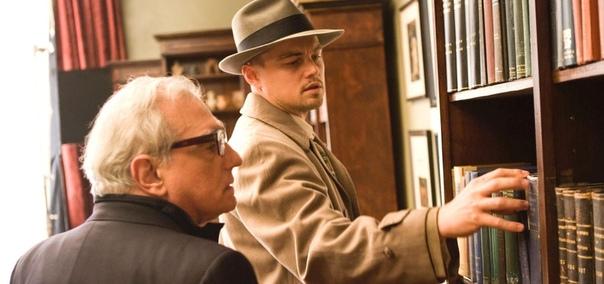 Леонардо ДиКаприо и Мартин Скорсезе на съёмочной площадке «Острова проклятых», 2008 год