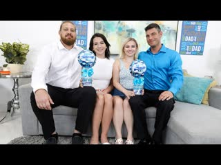 Riley Jean, Aria Banks - Happy Fathers Day (Teen, Blonde, Brunette, Blowjob, Natural Tits, Stepdad)