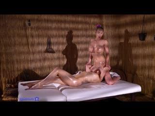 Nathaly Cherie  Sybil Kailena - Sensual lesbians pussy licking 69 [Lesbian 1080