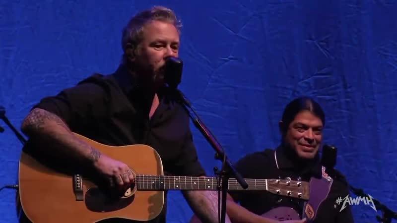 Some fragments of the speech Metallica AWMH Helping Hands Concert 2018