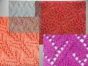 Красивые ажурные и другие узоры спицами со схемами-4. Вязание Knitting Knitted Diy