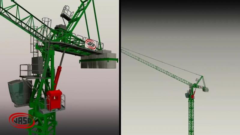 Tower Crane Jaso J168HPA assembly