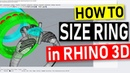 How to Size Ring Model in Rhino3D: Jewelry CAD Tutorial 50(2018)