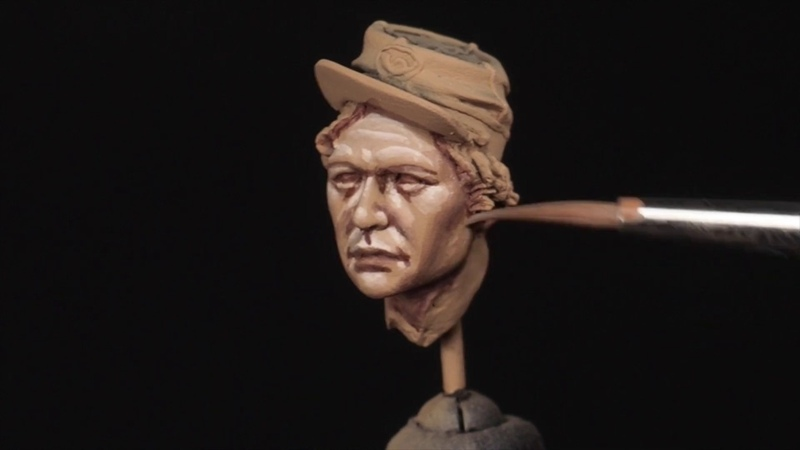 PAINTING A FACE IN 75 mm PART 1 CREATING A SKETCH OF HIGHLIGHTS AND SHADOWS