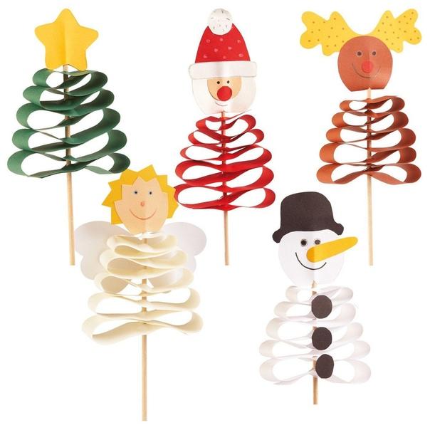 НОВОГОДНИЕ УКРАШЕНИЯ Интересная идея новогодних украшений на шпажках, которые можно воткнуть в цветочные горшки с