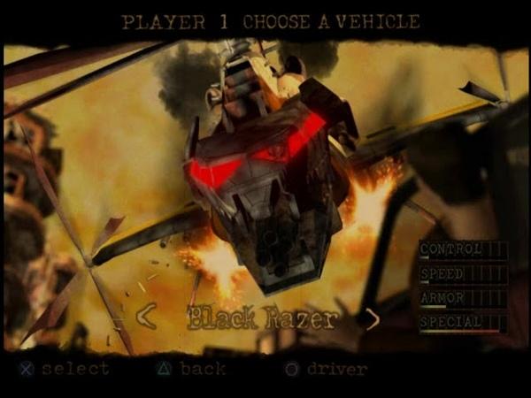 [PS2] Twisted Metal Black. RAW unlock Warhawk