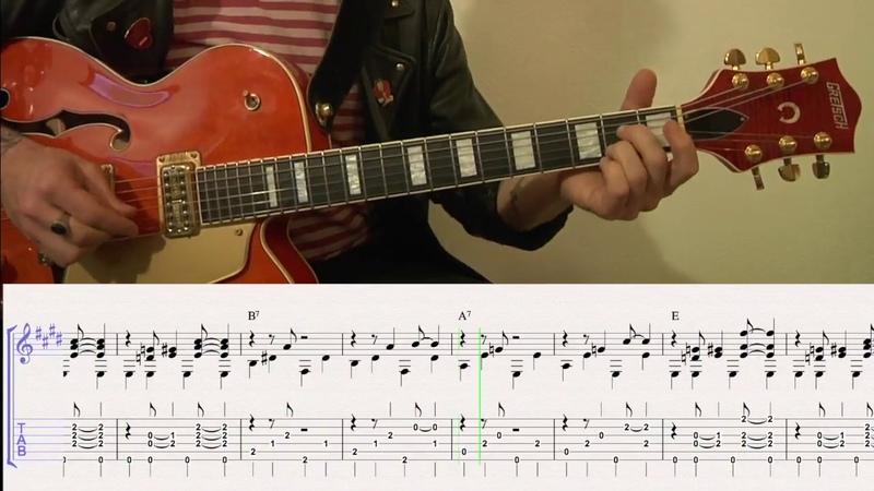 Brian Setzer - Mystery Train guitar tab